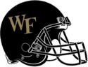 NCAA-ACC-Wake forest black helmet