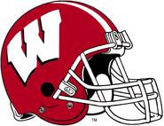 NCAA-Big 10-Wisconsin Badgers Crimson Helmet