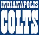 NFL-AFC-IND 1984-2001 Colts full white wordmark-blue background