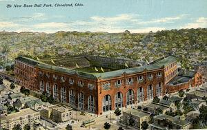 Postcard of League Park