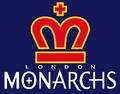 WLAF-London Monarchs-Blue Background