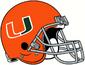 NCAA-ACC-Miami Hurricanes Orange helmet-gray facemask