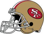 NFL-NFC-SF49ers 1988-1995 Helmet-Right Face