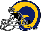 NFL-NFCW-Helmet-LA Rams-Yellow Horn Logo-Grey Mask-Right Face