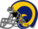 NFL-NFCW-Helmet-LA Rams-Yellow Horn Logo-Grey Mask-Right Face.png