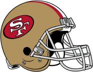 NFL-NFC-SF49ers 1988-1995 Helmet-Left Face