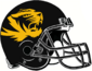 NCAA-SEC-Mizzou Tigers Black & Gold large logo helmet
