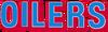 NFL-Houston-TEN Oilers large Columbia Blue-Red wordmark