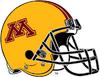 NCAA-Big 10-Minnesota Golden Gophers Yellow Alt Helmet-Striped Black facemask