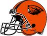NCAA-PAC12-Oregon State Beavers helmet-orange-right side