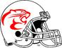 NCAA-AAC-Houston Cougars White Alternate Helmet-Red Mascot logo