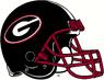 NCAA-SEC-Georgia Bulldogs Black helmet red facemask 2