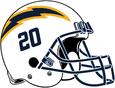 NFL-AFCW-2020-LA Chargers Alt Helmet - Navy Blue logo