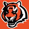 NFL-AFC-CIN-Bengals Tiger Head Mascot logo-Orange background