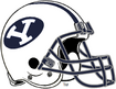 NCAA-BYU Cougars White Navy Blue Helmet