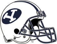 NCAA-BYU Cougars White Navy Blue Helmet