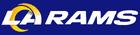 NFL-NFCW-LA Rams 2020 blue background-logo & wordmark