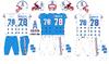 1981-1996 Houston Oilers uniforms