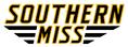 Southern Miss Script Logo white
