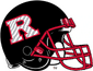 NCAA-Big 10-Rutgers Scarlet Knights 2020 Black Alt helmet-red facemask