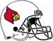 NCAA-ACC-Louisville Cardinals-White Helmet-black facemask
