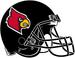 NCAA-ACC-Louisville Cardinals All-Black helmet-black fasemask