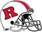 NCAA-Big 10-Rutgers Scarlet Knights White striped helmet-black facemask