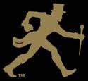 NCAA-ACC-Wake Forest Demon Deacons gold walking deacon black background alt logo