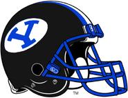 NCAA-BYU Cougars Black Helmet White logo blue facemask