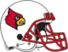 NCAA-ACC-Louisville Cardinals white helmet-red facemask