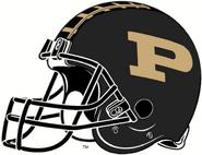 NCAA-Big 10-2016 Purdue Boilermakers Black Helmet-Right side