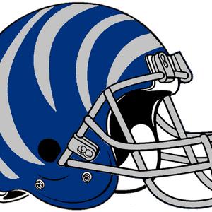 NCAA-AAC-Memphis Tigers blue bengal Striped helmet.png