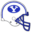 NCAA-BYU-Royal Blue and White Helmet-732px