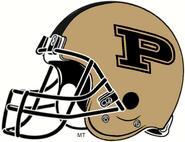 NCAA-Big 10-Purdue Boilermakers Gold Helmet 2-Right side