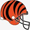 NFL-AFC-CIN Bengals 2D helmet