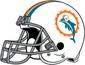 NFL-AFC-Helmet MIA-1966-1973-Right Face