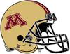 NCAA-Big 10-Minnesota Golden Gophers Gold Alt Helmet-Striped Black facemask