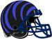 NCAA-AAC-Memphis Tigers Black blue bengal Striped helmet