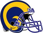 NFL-NFCW-Helmet-LA Rams-Yellow Horn Logo-Left face