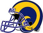 NFL-NFCW-Helmet-LA Rams-Yellow Horn Logo-Right face