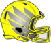 NCAA-Pac-12-Oregon Ducks 2018 Yellow-Silver Helmet