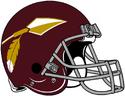 NFL-Helmet-WAS-1965-1968-Redskins Helmet