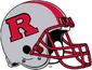 NCAA-Big 10-Rutgers Scarlet Knights Silver striped helmet