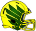 NCAA-Pac-12-Oregon Ducks 2018 Yellow-Green Helmet