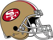 NFL-NFC-SF49ers-1964 1987 Helmet-Left Face