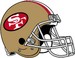 NFL-NFC-SF49ers-1964 1987 Helmet-Left Face.png