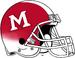 Miami (Ohio) Redhawks Red White Cascade Helmet-White Facemask