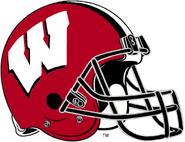 NCAA-Big 10-Wisconsin Badgers Crimson Helmet-black facemask