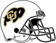 NCAA-Colorado Buffaloes White Helmet