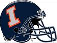 NCAA-Big 10-Illinois Fighting Illini Blue altenate helmet silve logo